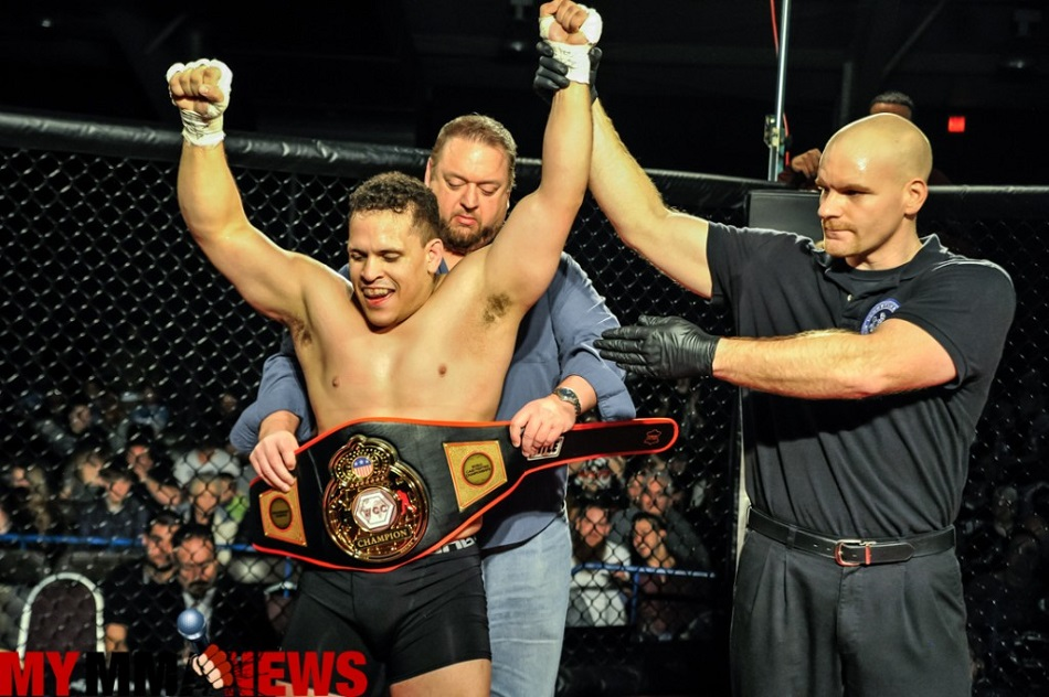 Shane Wilson is crowned first World Cagefighting Championships light heavyweight champion at WCC 16.