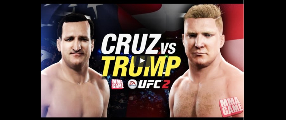 WATCH:  Donald Trump vs Ted Cruz in EA Sports UFC 2