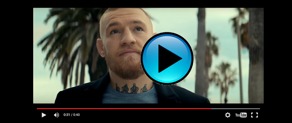 Banned Budweiser commercial featuring Conor McGregor