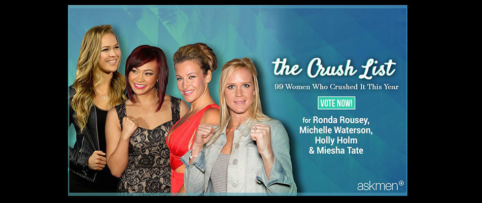 UFC Fans:  Vote For Your Biggest Crush