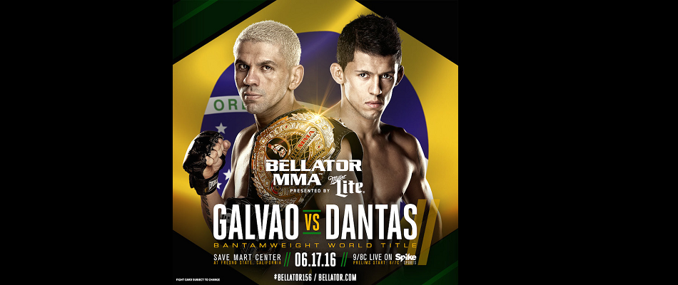 Marcos Galvao vs. Eduardo Dantas 2 Set For 'Bellator 156' on June 17