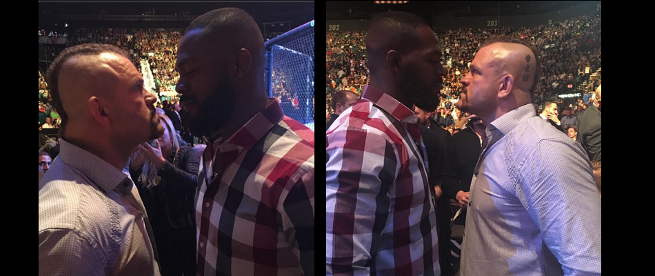 Chuck Liddell and Jon Jones come face to face