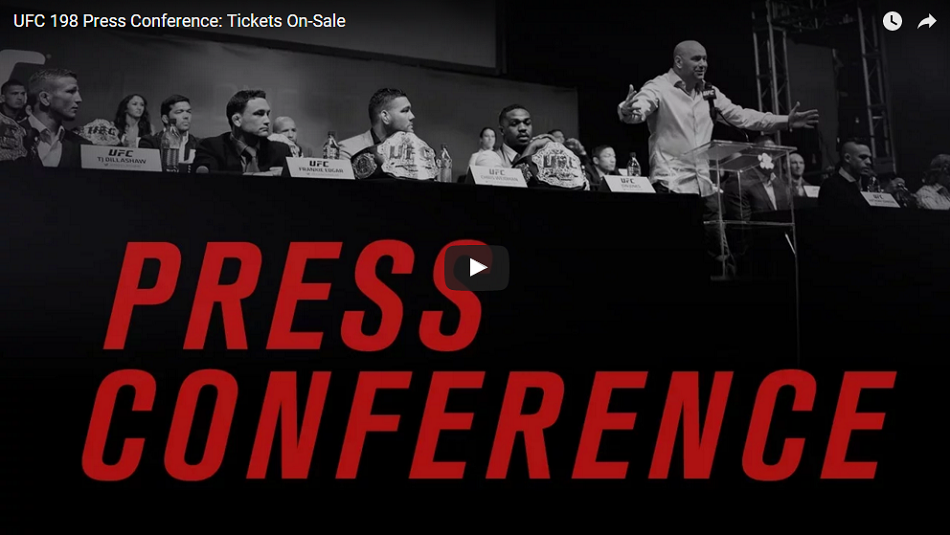 UFC 198 press conference