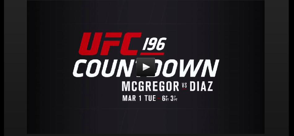 UFC 196 Countdown:  Tonight – 6pm EST on FS1