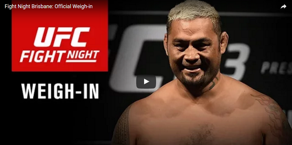 WATCH UFC Fight Night 85 weigh-ins – 6:30 PM EST