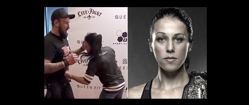 WATCH:  Joanna Jedrzejczyk punches willing fan