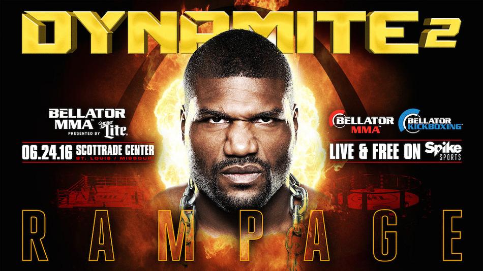 Rampage Returns on June 24 at 'Bellator: Dynamite 2' in St. Louis