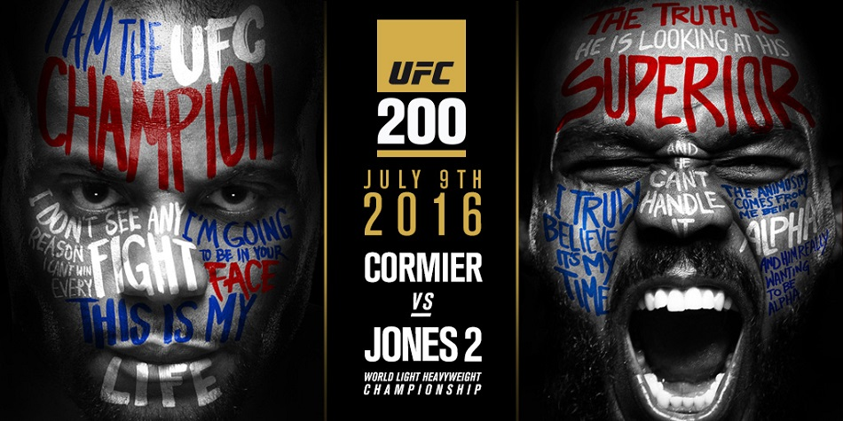UFC 200 gets new main event – Cormier vs Jones 2