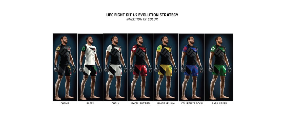 New UFC Fight Kit colors