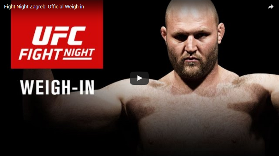 WATCH:  UFC Fight Night Zagreb weigh-ins – 11:30 a.m. EST
