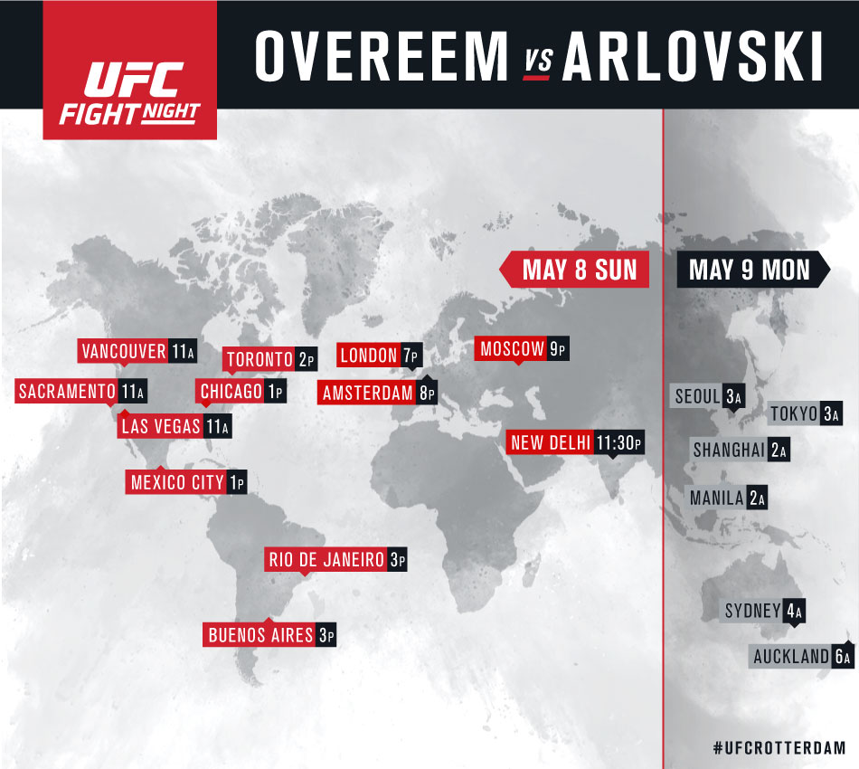 UFC Fight Night Rotterdam International Listings