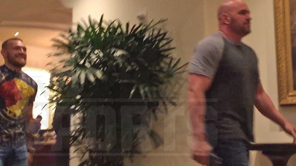 Conor McGregor and Dana White meet in Beverly Hills