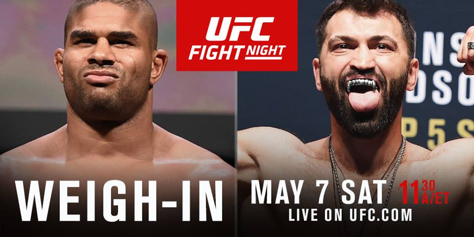 UFC Fight Night Rotterdam Weigh-in Results