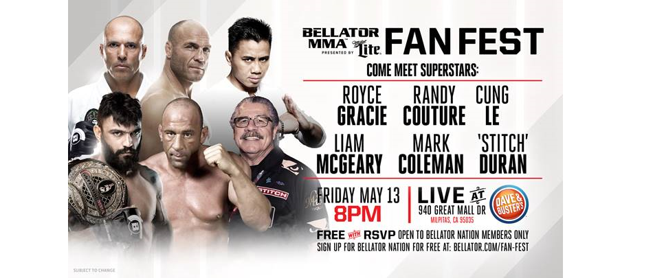 Bellator MMA Fan Fest set for San Jose – May 13