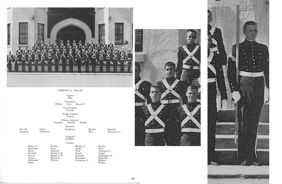 1963 Photo – UFC Founder & Donald Trump in same Military Academy Class