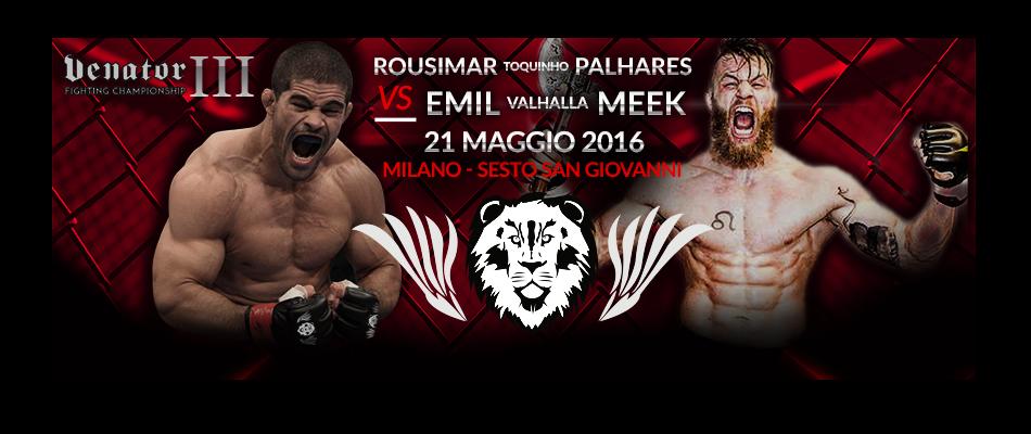 Venator FC 3 Results:  Palhares vs Weber Meek