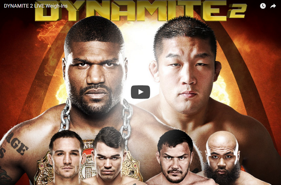 Watch Bellator 157: Dynamite 2 weigh-ins today, 6 pm EST
