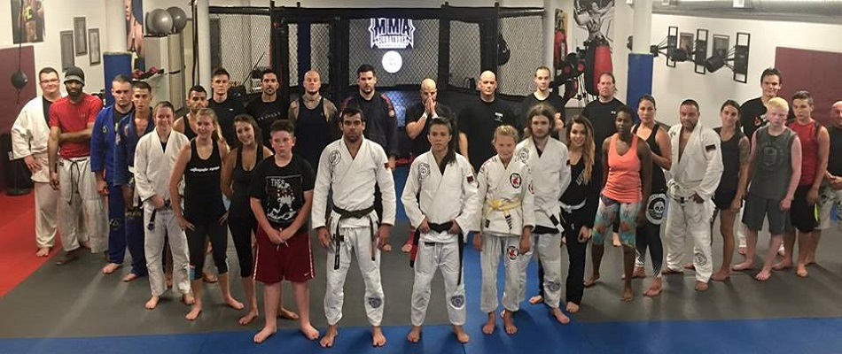 Renan Barão and Claudia Gadelha seminar in Stroudsubrg, Pennsylvania