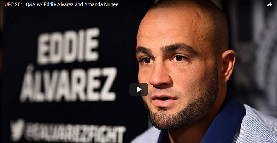 Watch today's Q&A with Eddie Alvarez, Amanda Nunes at 2 p.m. ET