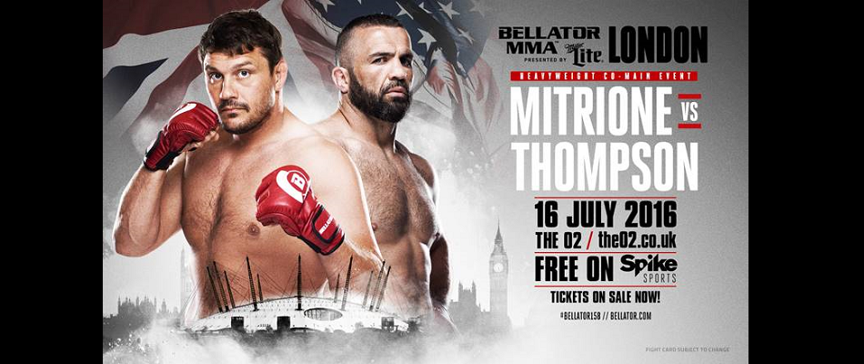 Matt Mitrione vs. Oli Thompson Official for 'Bellator: London' July 16