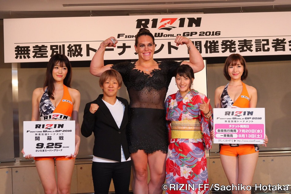 Women's MMA stars (from left to right) Kanako Murata, Gabi Garcia and Rena Kubota will all be back in action at the RIZIN FF event in Tokyo, Japan on Sunday, Sept. 25.