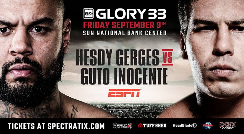 Hesdy Gerges and Guto Inocente Co-Headline GLORY 33 New Jersey