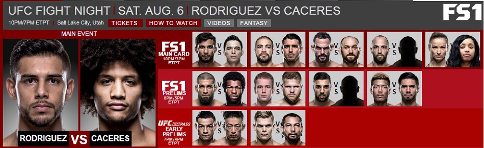 UFC FIght Card