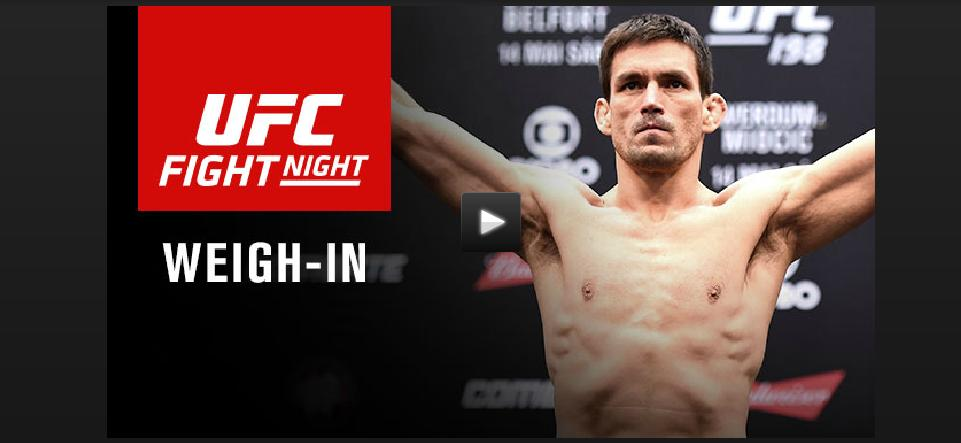 UFC on FOX 21 weigh-in video