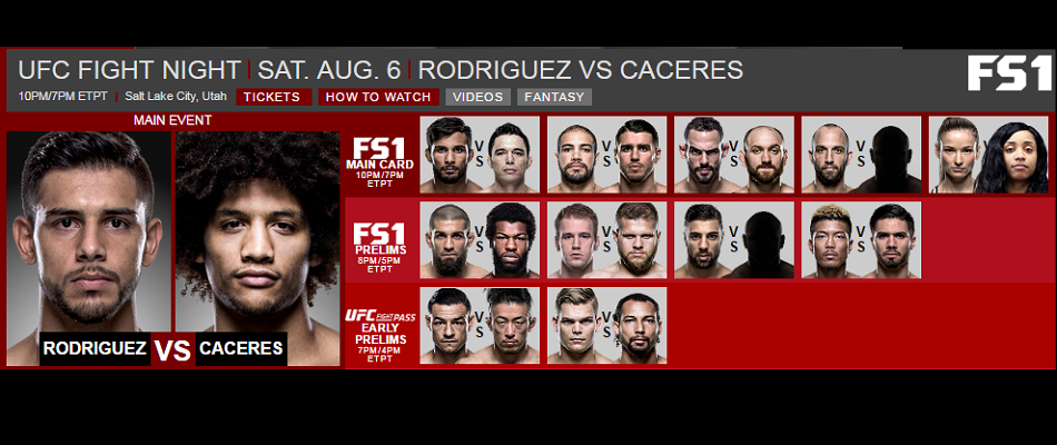 UFC Fight Card in Salt Lake City