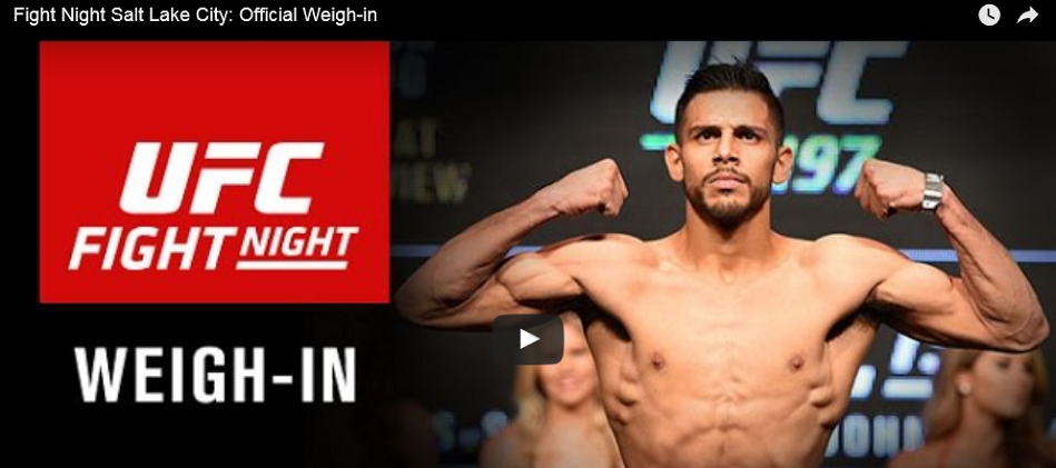 UFC Fight Night 92 weigh-in results – WATCH 7pm EST