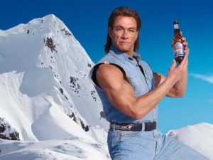 Jean-Claude Van Damme in a Coors Light ad.