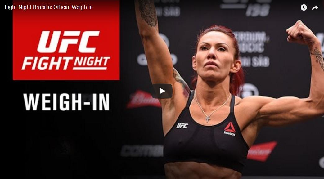 UFC Fight Night Brasilia weigh-ins