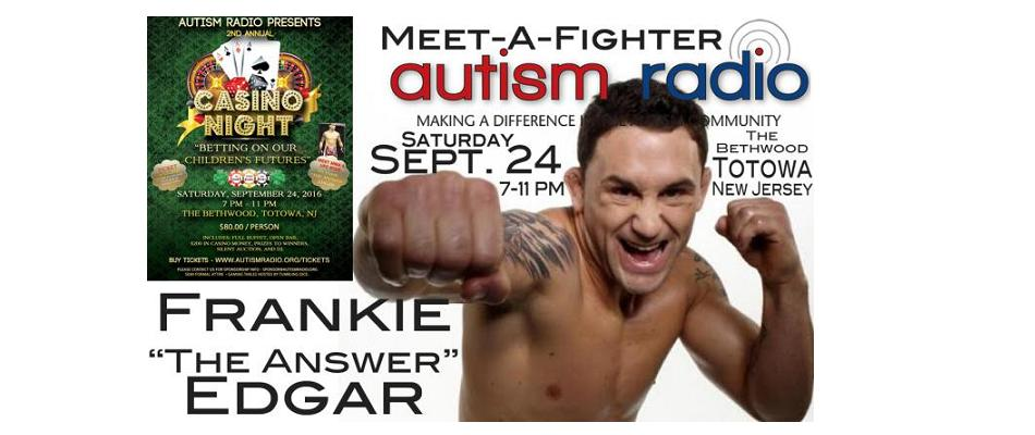 "Meet Frankie ""The Answer"" Edgar at Autism Radio Casino Night"