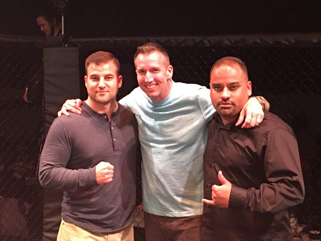Left: Nic Canobbio (KTFO President), Tom Kilkenny (ACC co-owner), Eugene Perez (ACC co-owner).