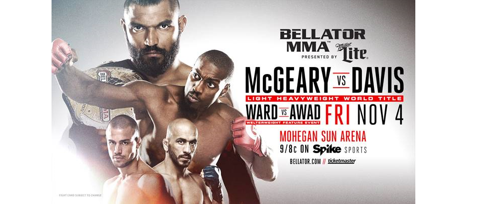 Liam McGeary to Defend Bellator LHW Championship Against Phil Davis Nov. 4