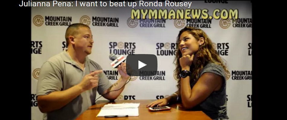 Julianna Pena: I want to beat up Ronda Rousey