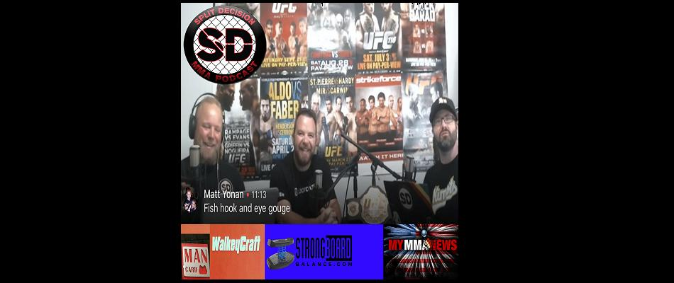 Split Decision MMA Podcast:  Dillashaw bet, Gonzaga, Red Panty night