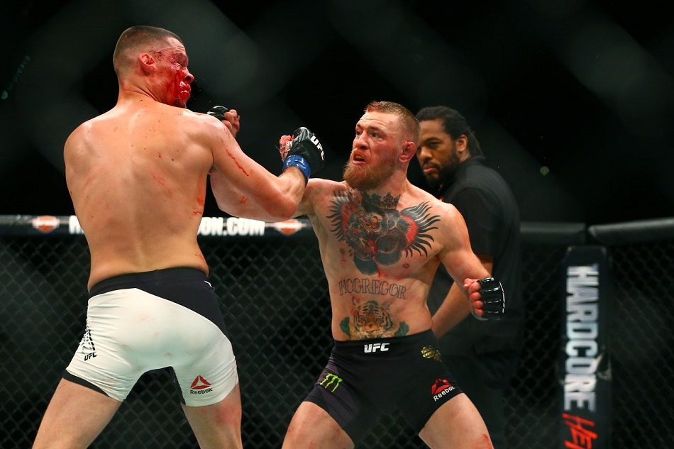 Conor McGregor vs Nate Diaz 2 breaks UFC Pay-Per-View record - Photo from USA Today