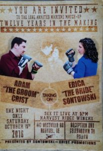 Adam Crist - Erica Sontowski wedding invite