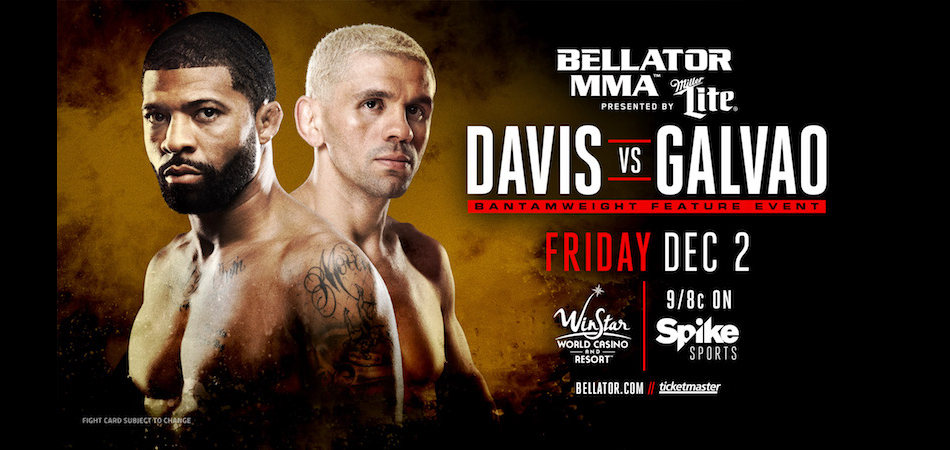 Marcos Galvao vs L.C. Davis, Honeycutt vs Reiter added to Bellator 166