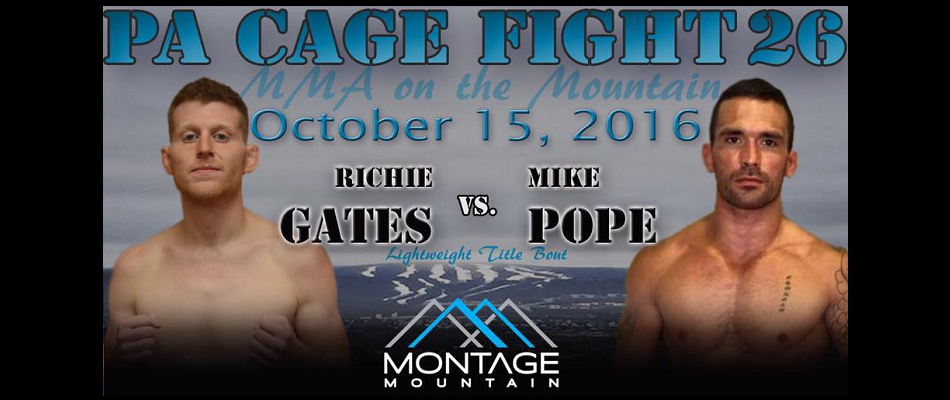 Richie Gates talks MMA on the Mountain title fight – PA Cage Fight 26