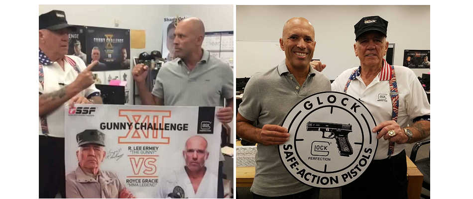 Royce Gracie and R. Lee Ermey shootout to raise $50K for Young Marines