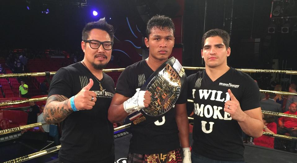 """Smokin"" Jo Nattawut reigns over two divisions after Lion Fight 32 win"