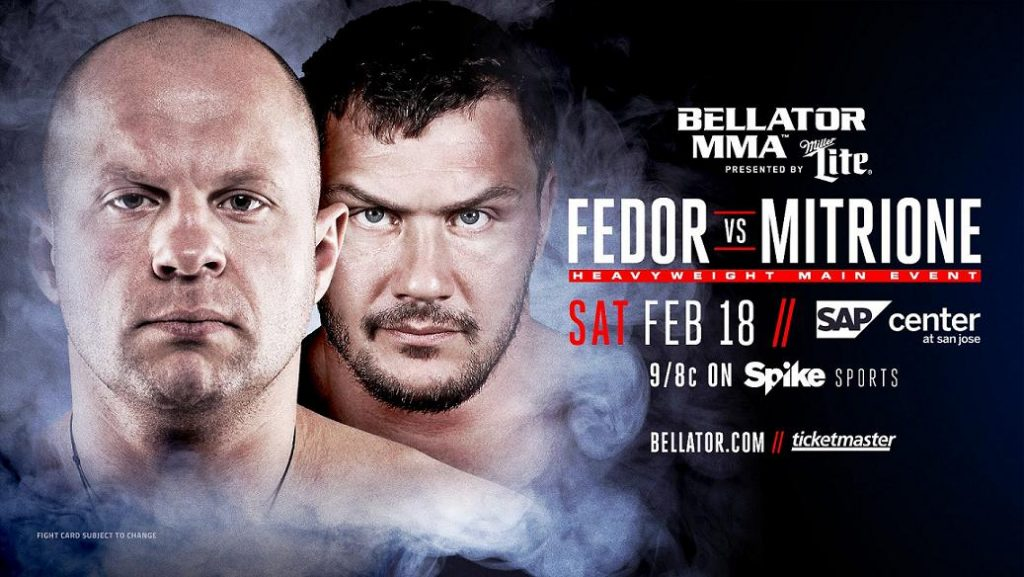 Fedor signs with Bellator MMA, set to fight Matt Mitrione in February