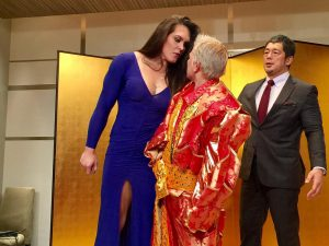 Gabi Garcia and Shinobu Kandori staredown