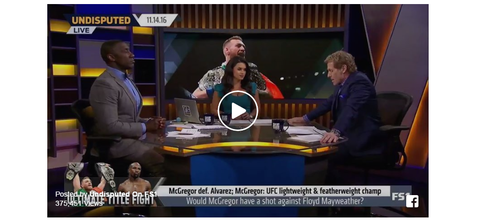 VIDEO: Skip Bayless – Floyd Mayweather has pillow fight punching power, Conor wins