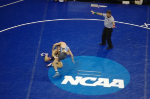 Isaiah Martinez at the NCAA D1 Championships at MSG.