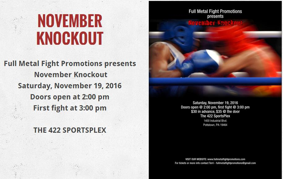 Full Metal Fight Promotions - November Knockout