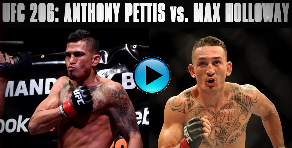LISTEN: UFC 206: Holloway vs Pettis - Media Call - 6pm EST