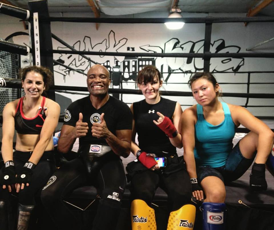 Julie Real training with Anderson Silva